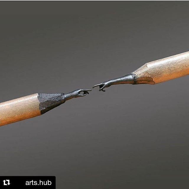 👌👌👌 Amazing Pencil sculpture ✏️😱👏 By @toldart . Follow us @arts.hub #artshub #creative #art