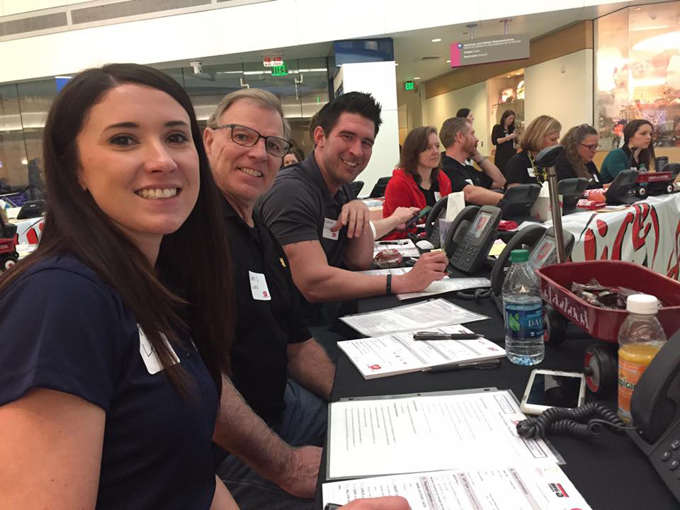 It's all smiles at the recent Alice 105.9 Cares for Kids Radiothon. (PIctured, L to R: Megan Lewis, Dennis Lane and Charles Arnold)