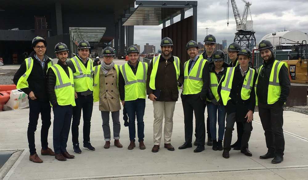 SREC members touring Dock 72 in Brooklyn