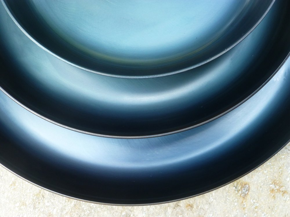 Hand Forged Blue Skillet Pans