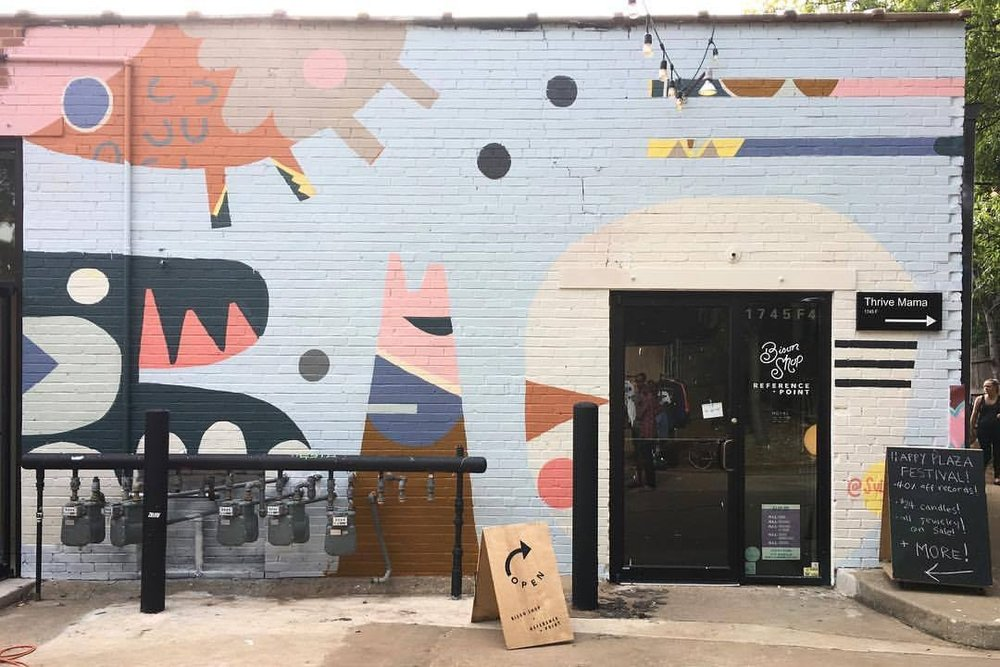PLAZA WALLS MURAL EXPO / BISON SHOP + REFERENCE POINT 2017 / OKC, OK / plazawalls.org / @plazawalls