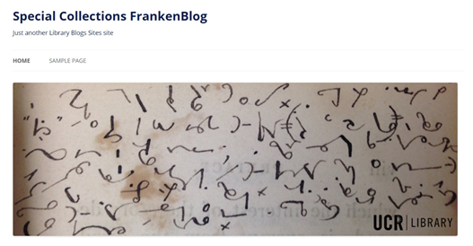 Click here to visit UCR's FrankenBlog, a project of the Eaton Collection of Science Fiction and Fantasy.