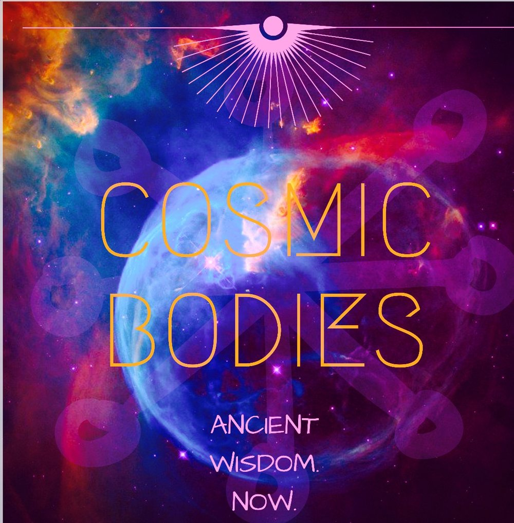 Cosmic bodies is a space where ancient wisdom meets our earth journey now... Simi Sutton brings through her gifts in an authentic powerful and graceful way x