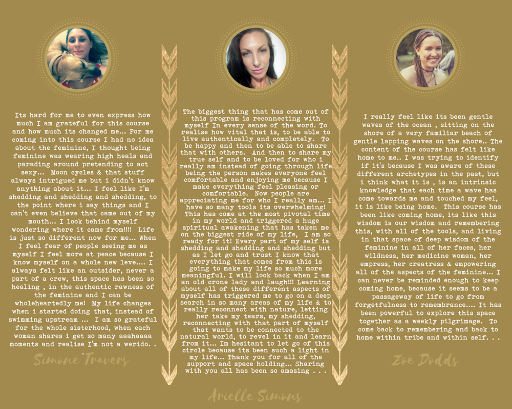 Here's what sisters have had to say about the feminine embodiment temple journey
