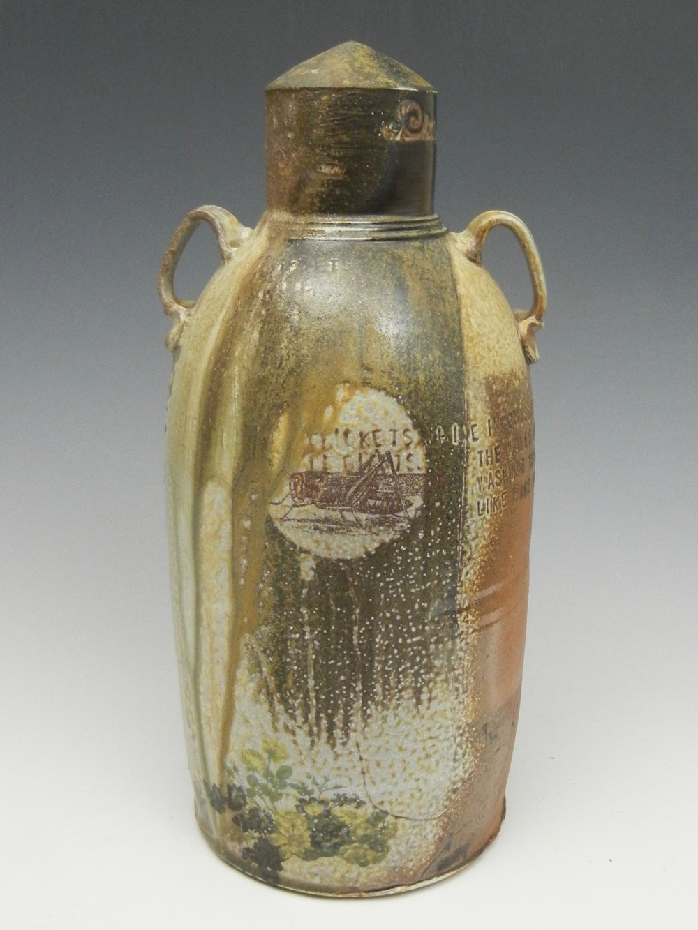 Lorenz Pottery, handmade, ceramics, pottery, folk pottery, wood fired, soda fired, grave marker, cricket