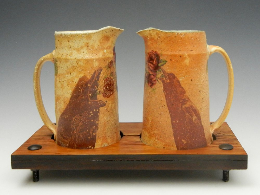Lorenz Pottery, handmade, ceramics, pottery, folk pottery, wood fired, soda fired, pitcher