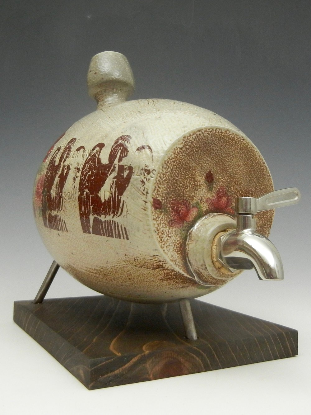 Lorenz Pottery, handmade, ceramics, pottery, folk pottery, wood fired, soda fired, water barrel