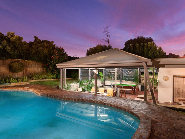 Twilight-exterior-backyard