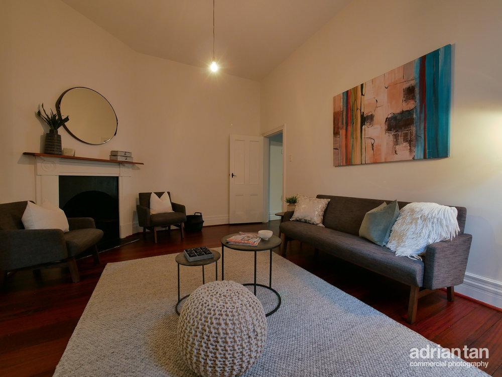 Simple and dark livingroom