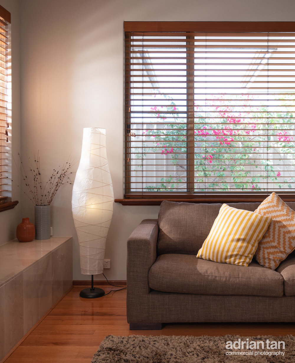 Balance the natural light with artificial lights