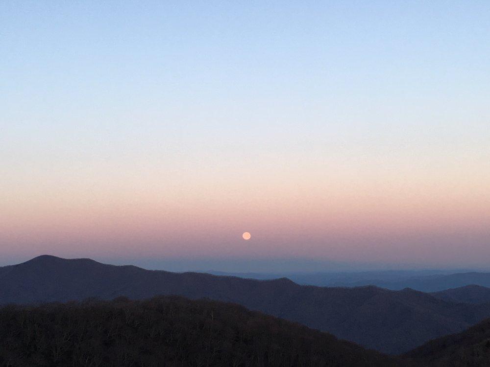 Scorpio Full Moonrise - Craggy Gardens, North Carolina