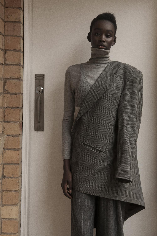 blazer stylists own  turtle neck  vintage  singlet vintage  pant JW anderson