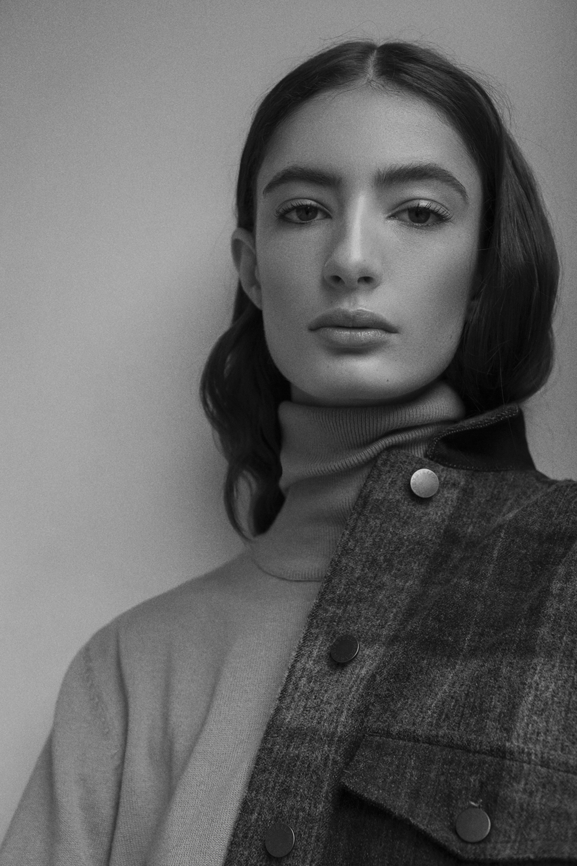 turtle neck  stylists own   jacket  stella mccartney