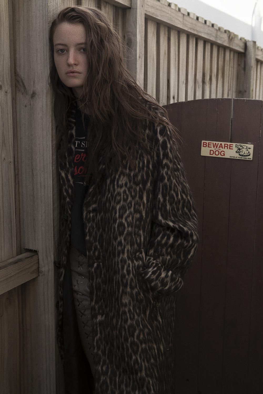 coat  RAEY  top and choker  models own