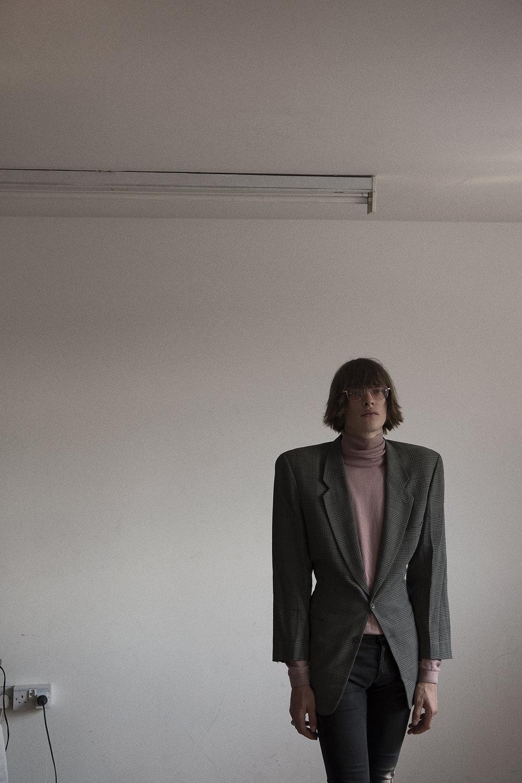 turtleneck + blazor  stylists own  jeans  models own