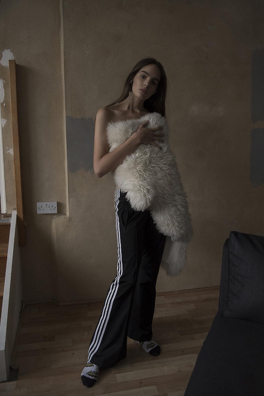track pants  adidas  socks  models own