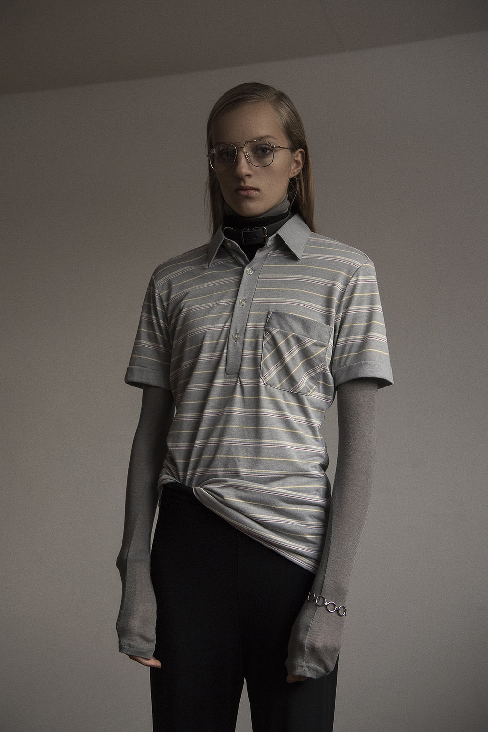 stripe shirt  the market cartel  trousers  stylist own  bracelet  justine clenquet