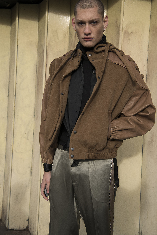 rollneck  jil sander  shirt  stylist's own  jacket  priya ahluwalia  trousers  louis vuitton
