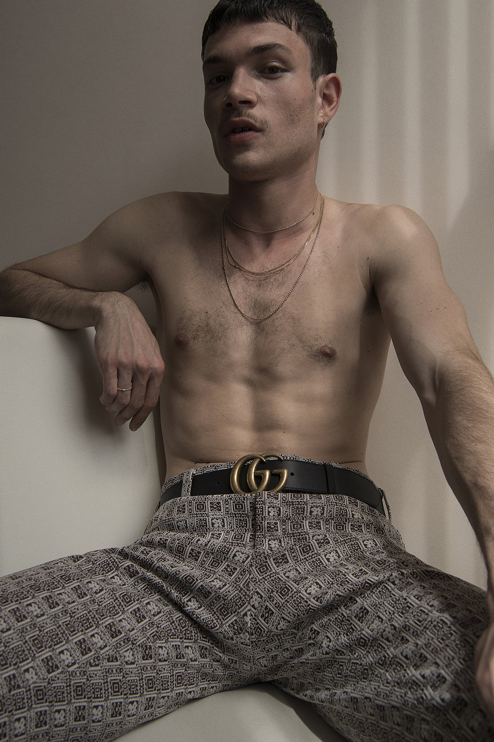 trousers  vintage @ the market cartel  belt  gucci  chains  model's own