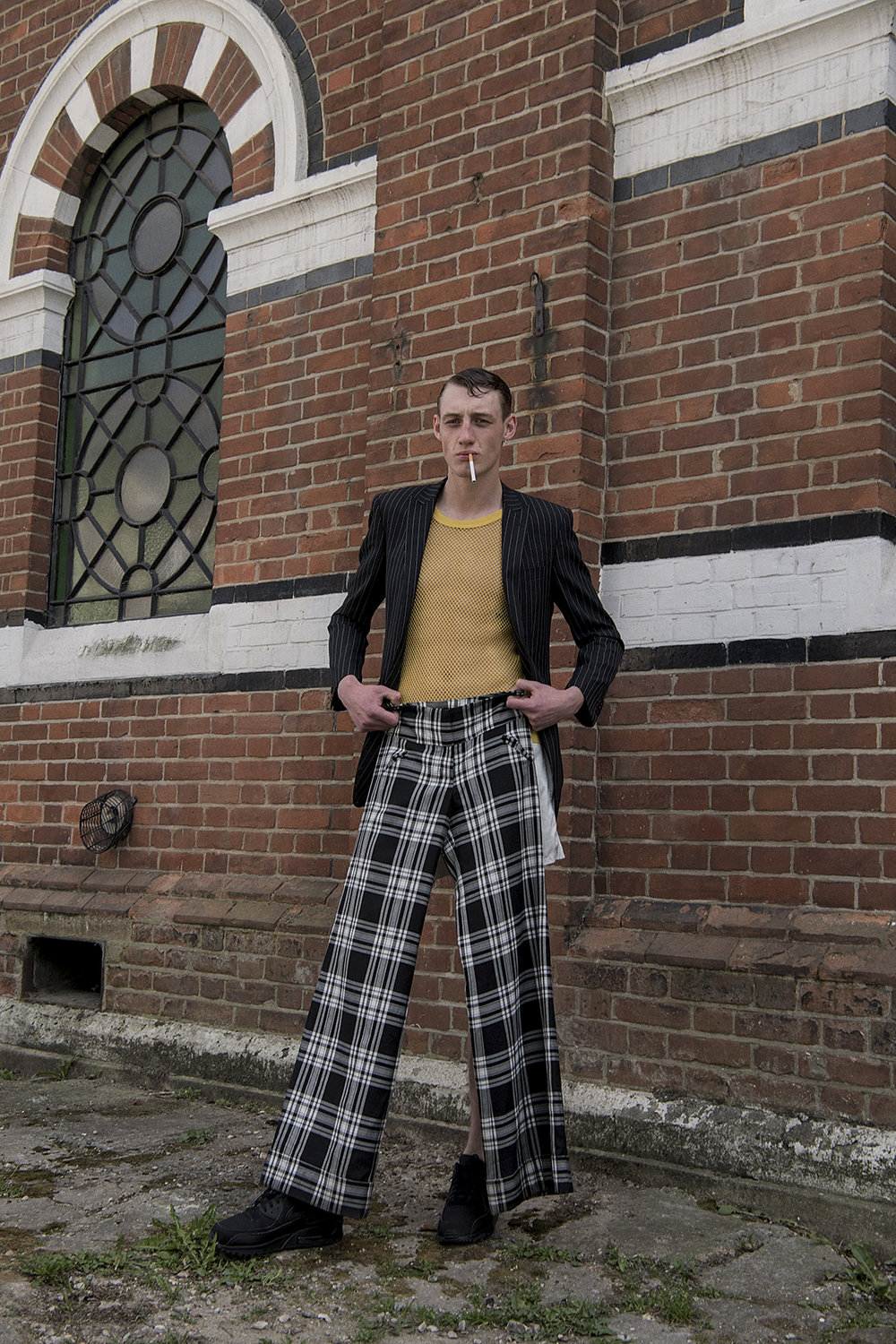 jacket + top + trousers  vintage shoes model's own