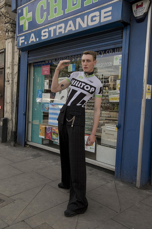 trousers  + belt aaizél  top  vintage  choker  stylist's own  shoes  model's own