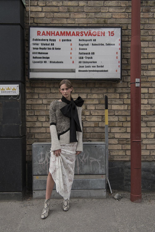 dress  ida sjöstedt  knitwear  dagmar  shoes  af klingberg  scarf  aaizél