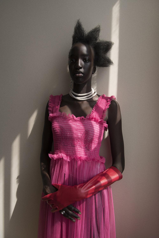 dress  freckle seoul  jewellery  the market cartel  glove  stylist's own