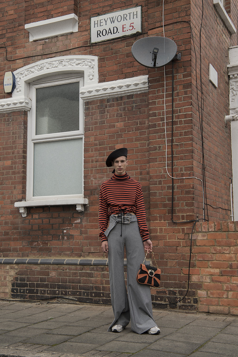 top  self made  beret  aaizél  trousers  maxine beiny  shoes  nike  bag  vintage
