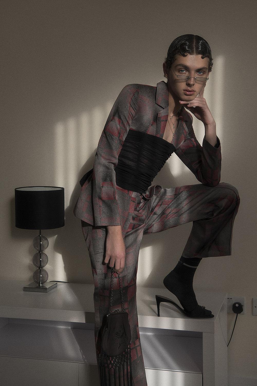 Suit  boo pala  corset  vintage  bag + sunglasses  stylist's own  shoes  dolce & gabbana