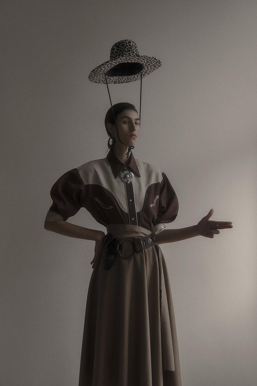 hat  stylist's own  shirt + belt  vintage the market cartel  skirt  joseph  necklace  vintage