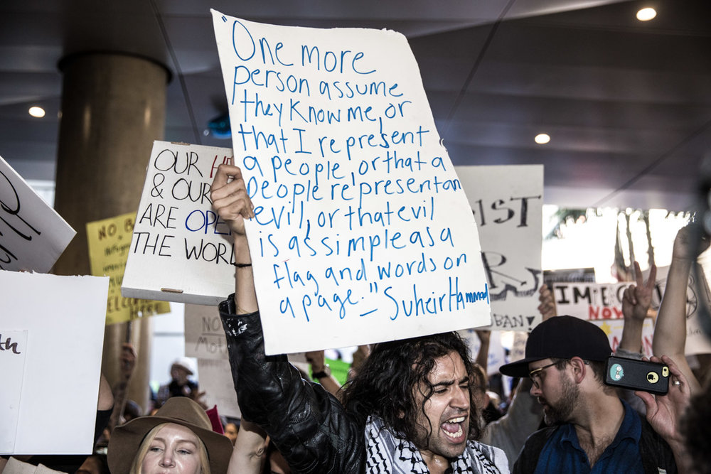 LAX Protest Against Muslims