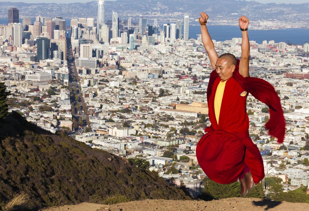 Street-Photography-Buddhist-Monks-San-Francisco-California-Twin-Peaks-Wes-Marsala