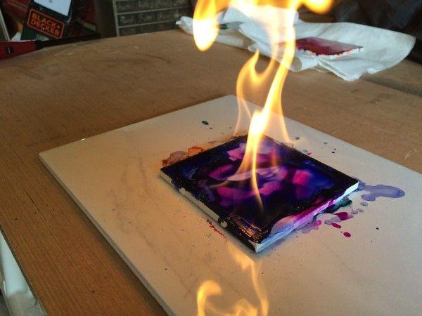 ART WORKSHOPS   -FIRE&ALCOHOL ART