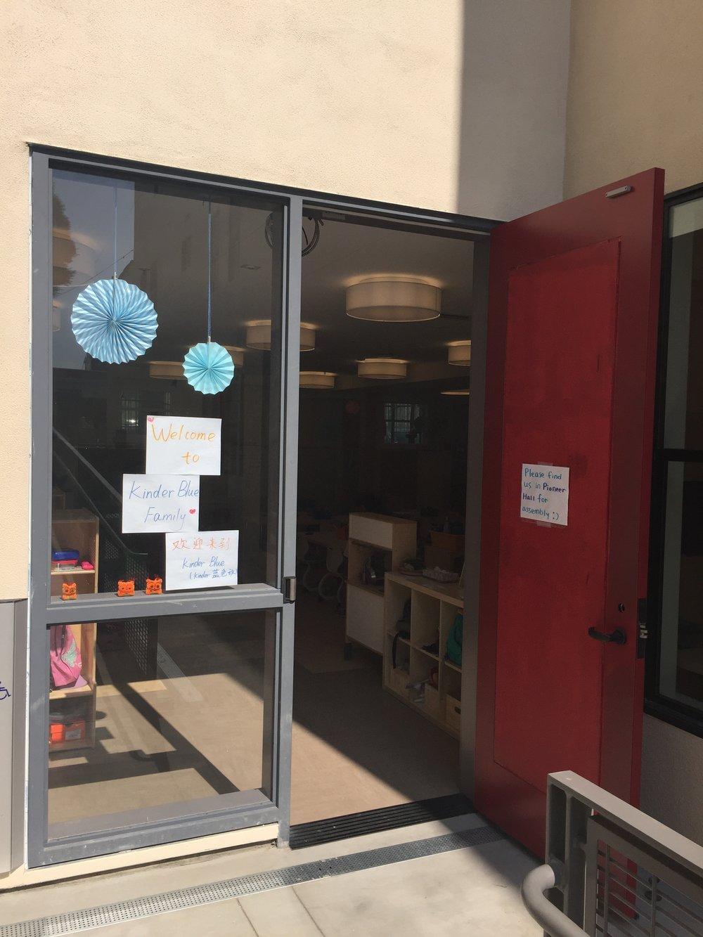 The brand-new Kindergarten Blue classroom.