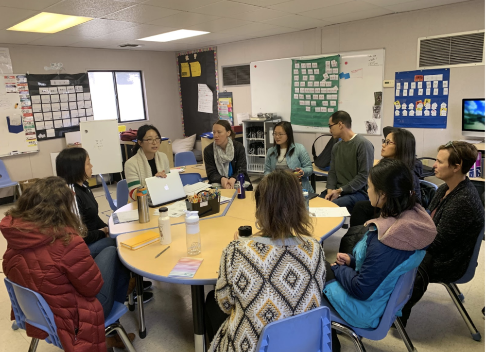 Jing Ma shared her learning from a Social Thinking conference, particularly the ways mindfulness activities can help students develop empathy.