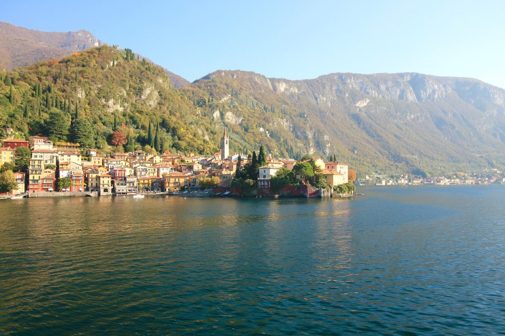 View to Varenna from Lake Como