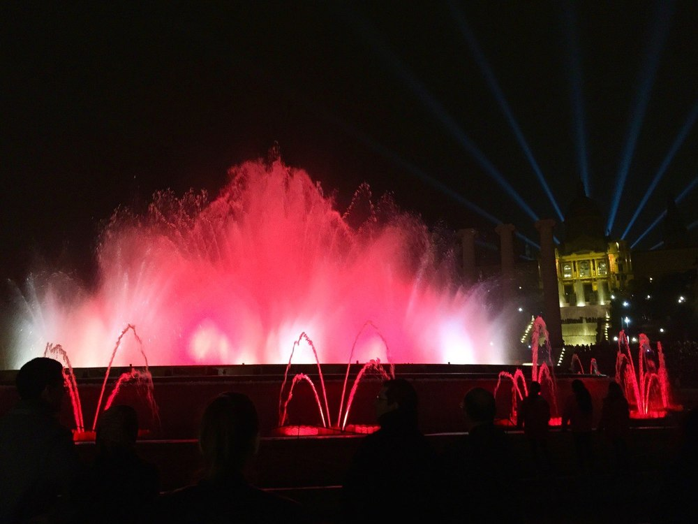 Magic Fountain Plaza de España Barcelona Christmas is Barcelona