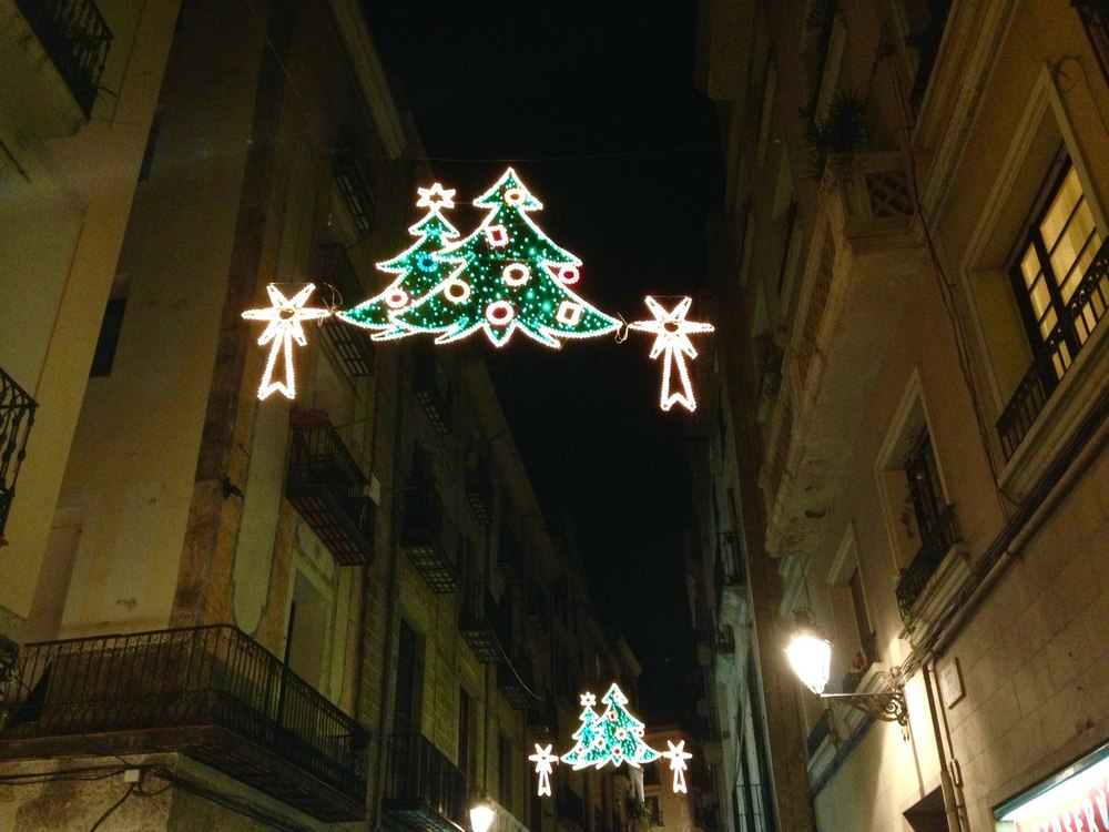 European Christmas Lights Christmas is Barcelona