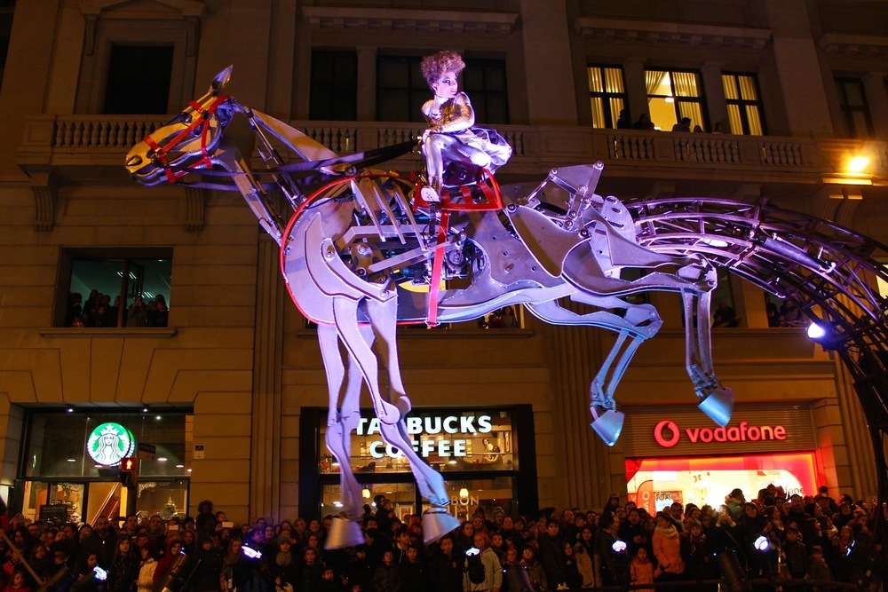 Three Kings Parade Barcelona Christmas Flying Horse