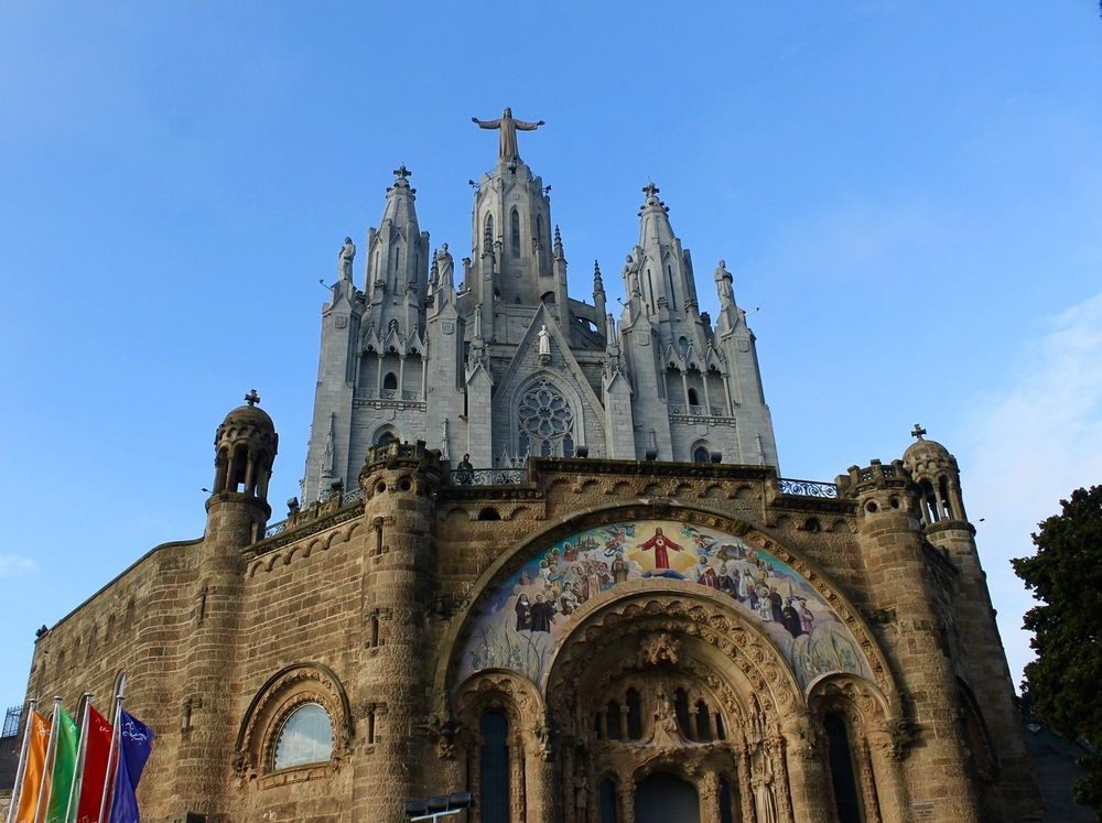 Sacred Heart Church Tibidabo Mountain
