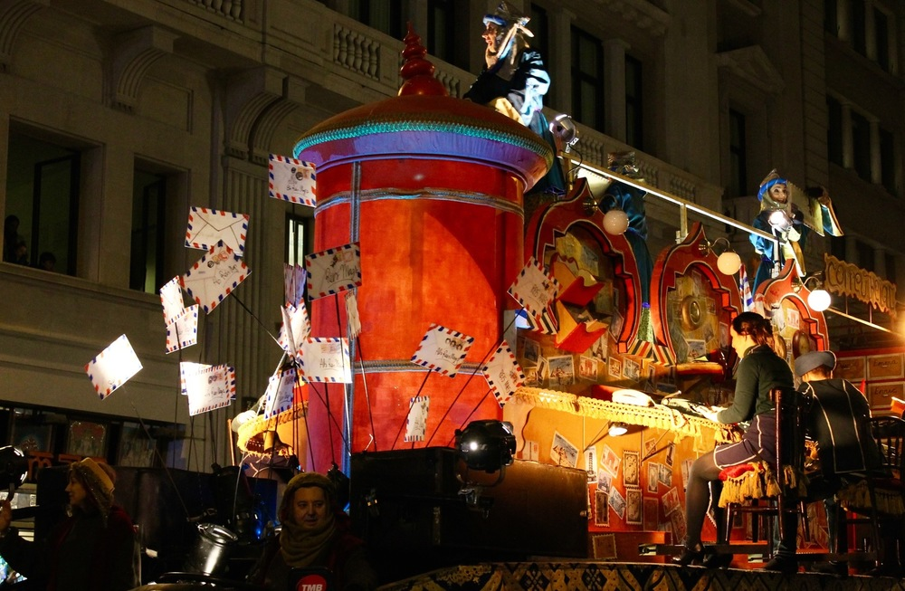 Three Kings Parade Barcelona Christmas Mail Float