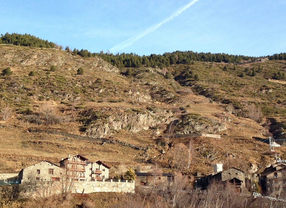 Hiking in Andorra in winter