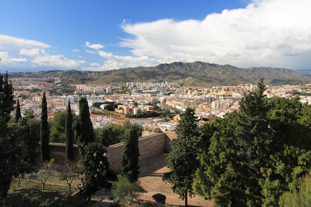 View of City Malaga Gibralfaro