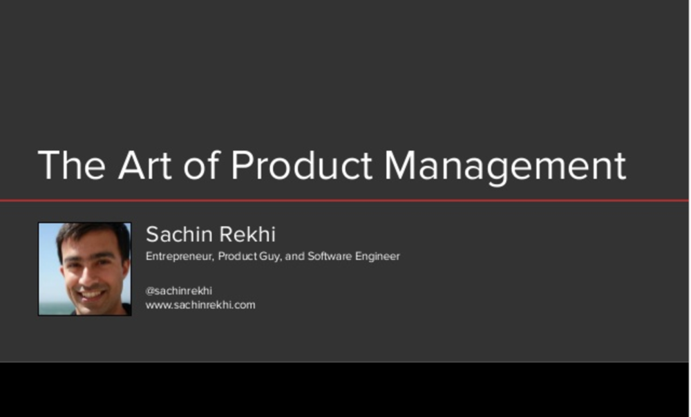 The Art of Product Management, by Sachin Rekhi