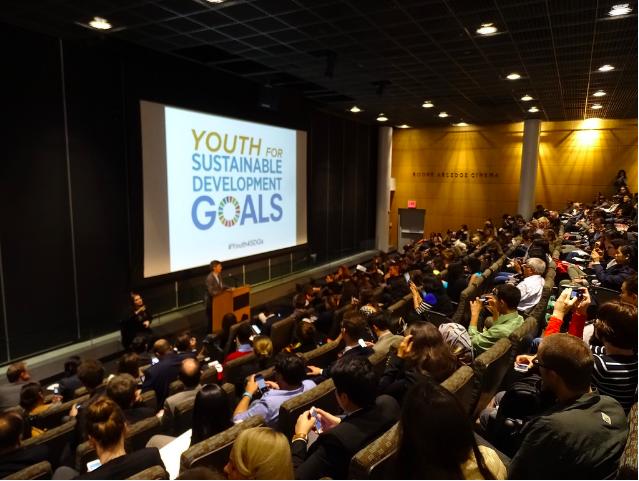 Photo: Prof. Jeffrey Sachs speaking