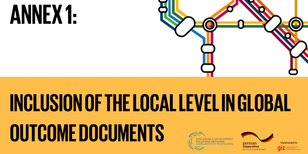 ANNEX 1: Inclusion of the local level in global outcome documents - United Nations General Assembly 2015