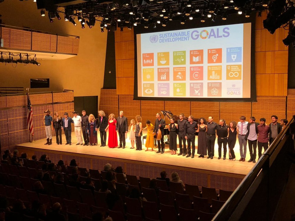 The performers take a final bow at the conclusion of the Concert for a Sustainable Planet. Photo Credits: Isabel Perez Dobarro