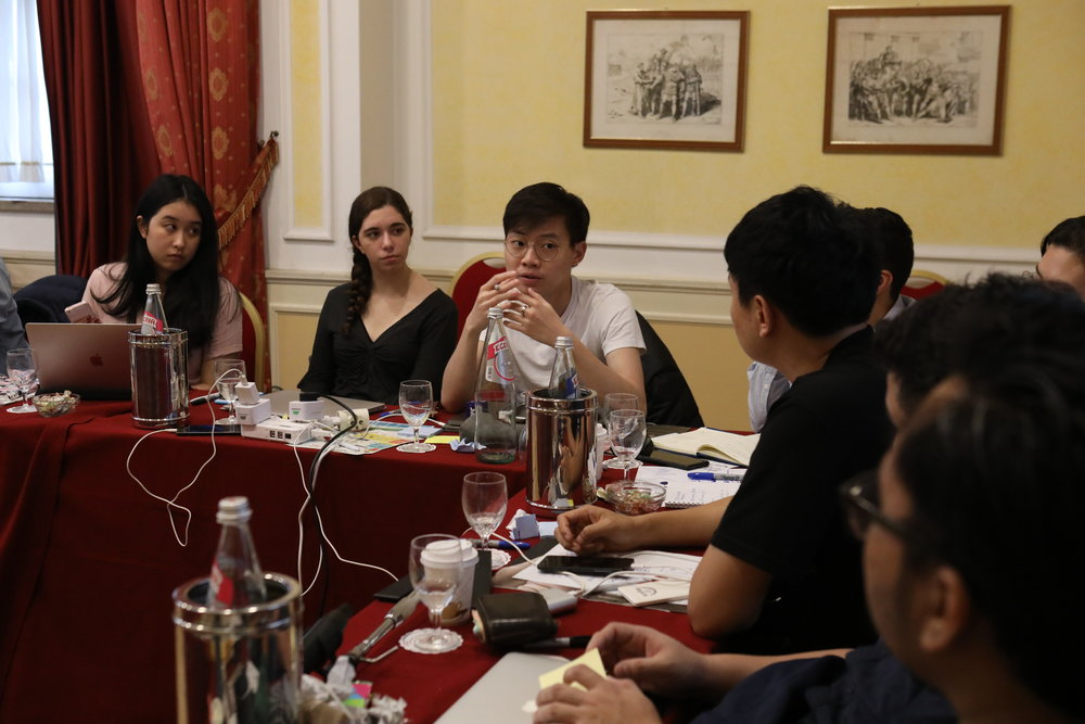 Yi Jun Mock, Project Lead for the Networks Team, shares his thoughts with the group.  Photo Credits: Yuntong Man/SDSN Youth