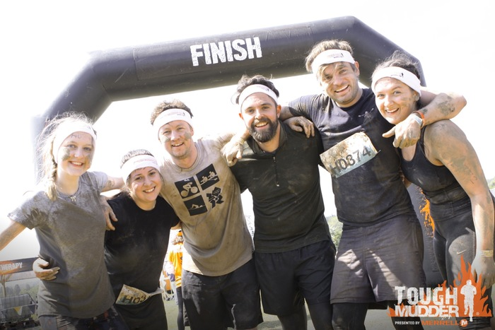 Our six Tough Mudders - Sophie, Luisa, Ruari, James, Jack and Robyn
