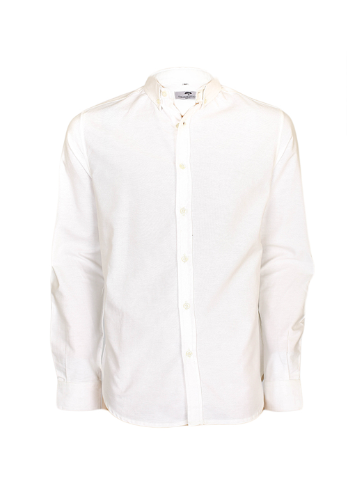 White Shirt with White Buttons — One Hundred Years